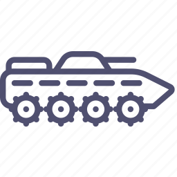 amphibious, apc, armoured, btr, carrier, fighting, ifv, infantry, military, personnel, tank, vehicle icon