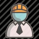 engineer, tie, unisex, avatar, safety helmet, formal