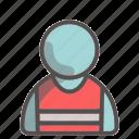safety, vest, unisex, avatar, profile