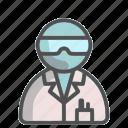 scientist, unisex, avatar, profile, experiment, researcher