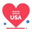 american, heart, love, usa icon