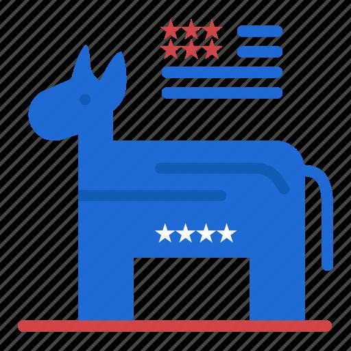 american, donkey, political, symbol icon