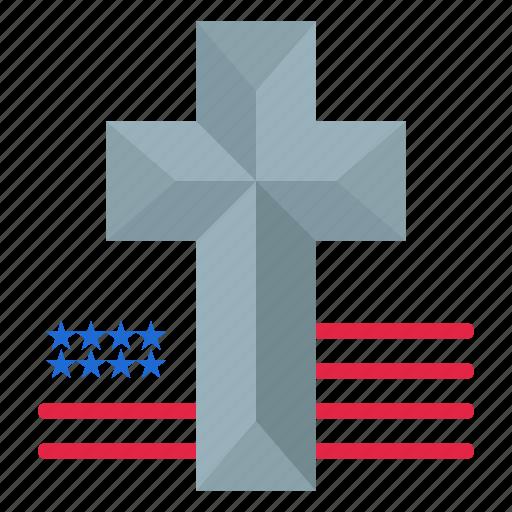 american, church, cross icon