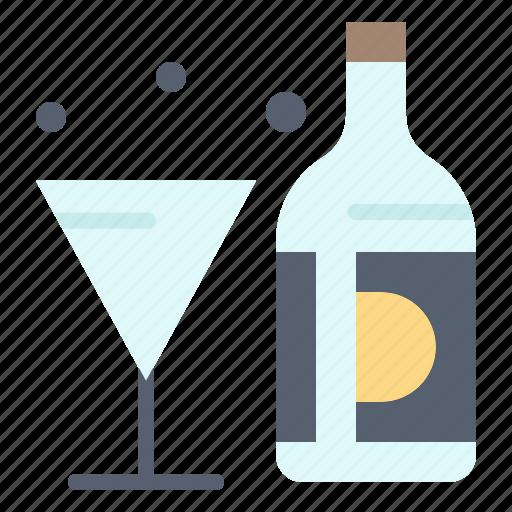 american, bottle, drink, glass, wine icon