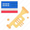 american, flag, laud, speaker icon