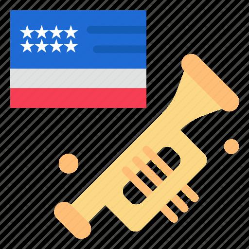 american, flag, laud, speaker icon