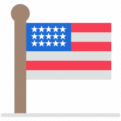 flag, states, united, usa icon