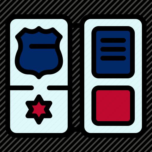 american, book, shield, star icon