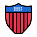 american, seurity, shield, usa icon