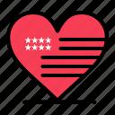 american, flag, heart, love icon
