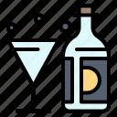 american, bottle, drink, glass, wine
