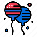 american, bloon, bloons, fly icon