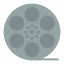 american, movis, play, video icon