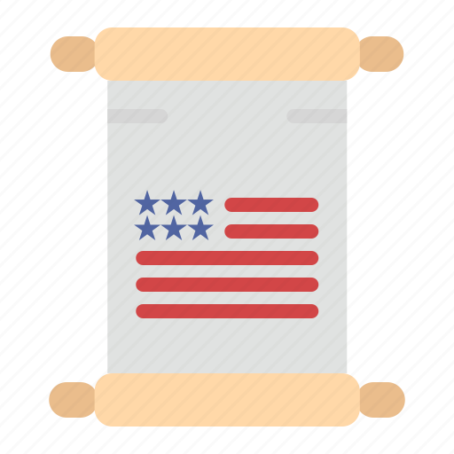 american, scroll, text, usa icon