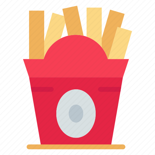 fastfood, food, frise, usa icon