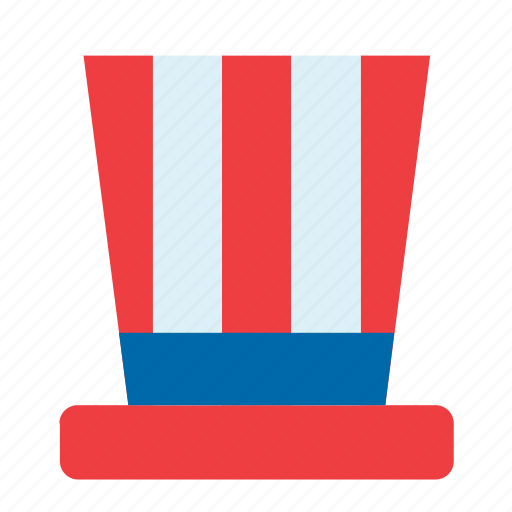 4th july, america, american, hat, united states, us, usa icon