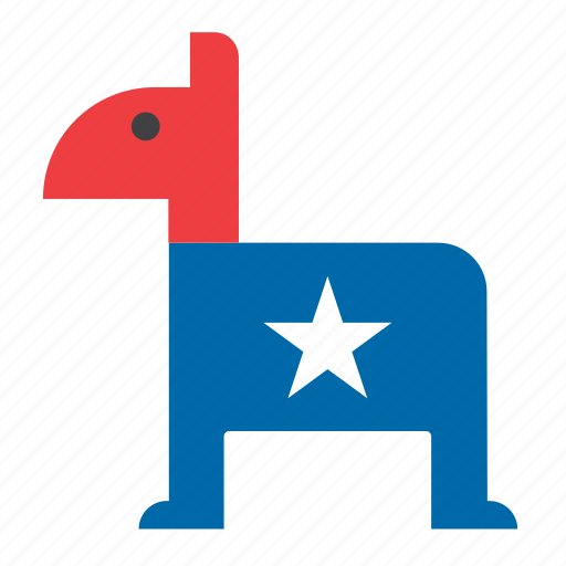 american, democratic party, donkey, elections, politics, presidential icon
