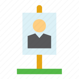 candidate, elections, politics, poster, presidential, sign, united states icon