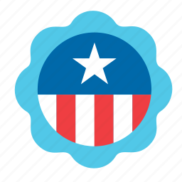 4th july, america, american, badge, elections, united states, usa icon