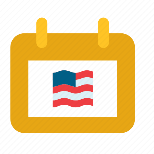 america, american, calendar, elections, flag, presidential, united states icon