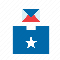american, ballot box, elections, politics, presidential, united states, vote icon