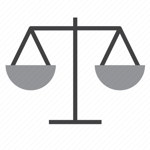 justice, scales, weighing, weighing scales icon
