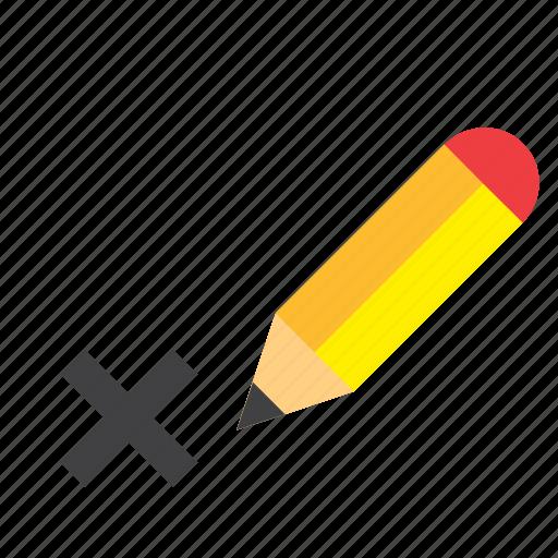 Cross, election, elections, mark, pencil, politics, vote icon - Download on Iconfinder