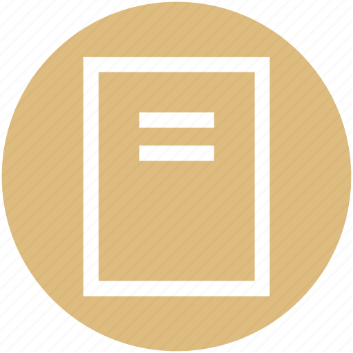 document, justify, list, text icon
