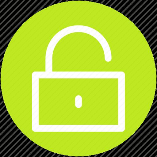 lock, open, padlock, unlock icon