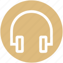 audio, earphone, headphone, headset icon