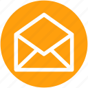 envelope, messaging, open, sign icon