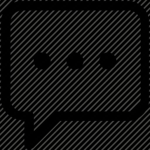 chat, conversation, ellipsis icon