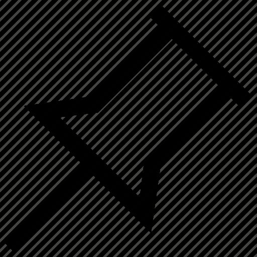 pin, pin board icon