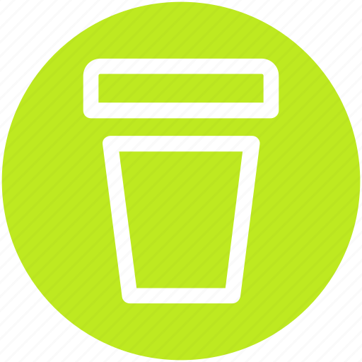 coffee, covered, disposable, paper cup icon