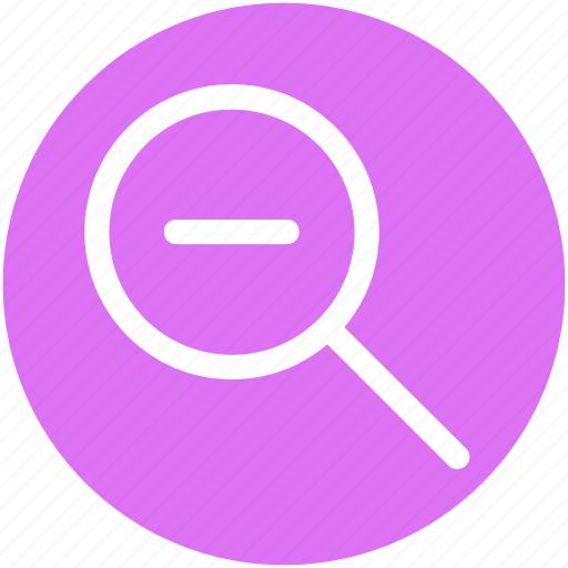 Glass, magnifier, magnifying glass, zoom out icon - Download on Iconfinder