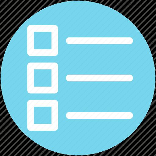 bullet, item, line, list, menu, paragraph, text icon