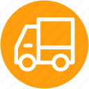 delivery van, transport, van, vehicle icon