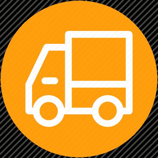 delivery van, transport, van, vehicle icon