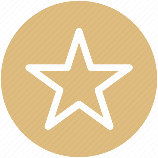 favorite sign, five point star, five pointed, star, star shape icon