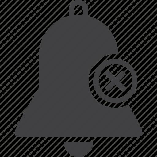 alarm, bell, delete icon