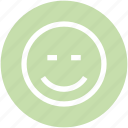 calm, face, happy, smiley icon