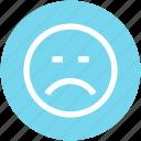 emoticon, face, sad, scared, smiley icon
