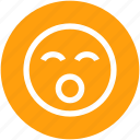 emoticons, face, shouting, smiley icon