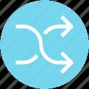 arrow, shuffle icon