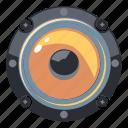 circle, speaker, audio, music, sound, volume