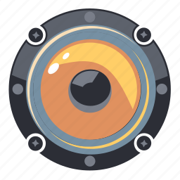 audio, circle, music, sound, speaker, volume icon