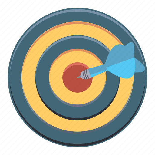 arrow, bullseye, darts, direction, target icon