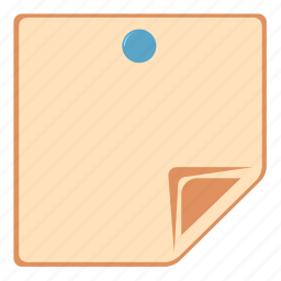 document, note, notes, page icon