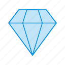 diamond, gem, gemstone, jewelry icon