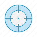 aim, bullseye, goal icon